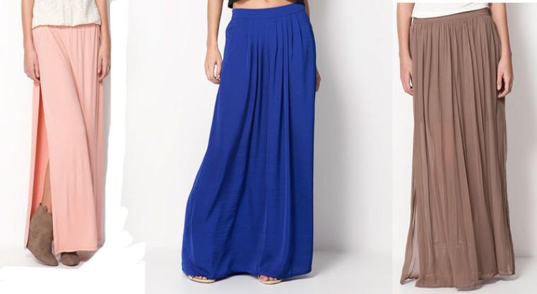 BK maxi faldas